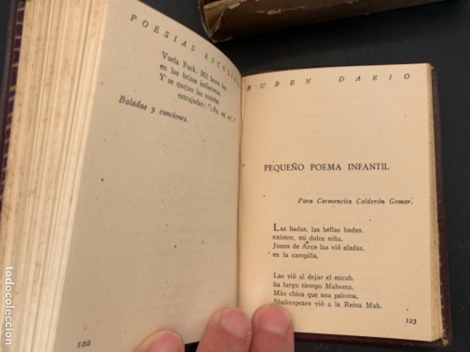 Libros antiguos: RUBEN DARIO POESIAS ESCOGIDAS DOS VOLUMENES - Foto 7 - 285762373