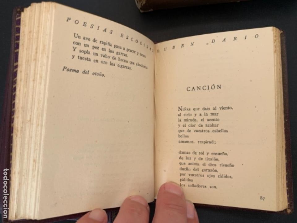 Libros antiguos: RUBEN DARIO POESIAS ESCOGIDAS DOS VOLUMENES - Foto 8 - 285762373