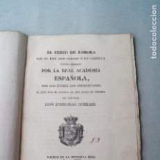 Libros antiguos: EL CERCO DE ZAMORA POR EL REY DON SANCHO II DE CASTILLA. POEMA IMPRESO. FERNANDO CORRADI. 1833. Lote 286653123