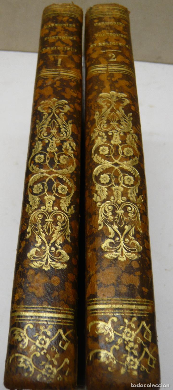 Libros antiguos: Harmonies poétiques et religieuses en 2 tomos año 1830 - LAMARTINE Alphonse de. - Foto 2 - 287793418
