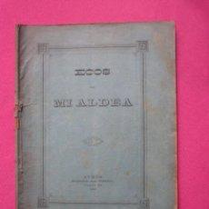 Alte Bücher: ECOS DE MI ALDEA POESIAS AL INDIANO EN BABLE AVILES ASTURIAS 1890 L4C1. Lote 288169633