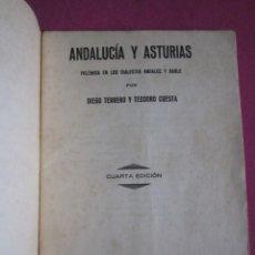 Libros antiguos: ANDALUCIA Y ASTURIAS POESIA TERRERO T. CUESTA AÑO 1933 L4C1. Lote 288171073