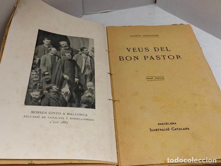 Libros antiguos: Mossen JACINTO VERDAGUER - VEUS DEL BON PASTOR. num XIV, S.XIX 131 pags. Ilustracio Catalana - Foto 2 - 288461883