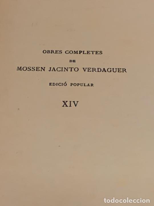 Libros antiguos: Mossen JACINTO VERDAGUER - VEUS DEL BON PASTOR. num XIV, S.XIX 131 pags. Ilustracio Catalana - Foto 3 - 288461883