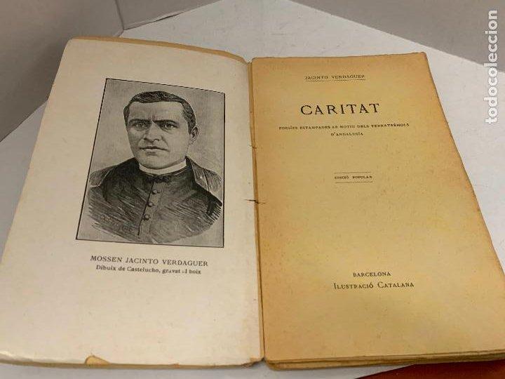 MOSSEN JACINTO VERDAGUER - CARITAT. NUM IV, S.XIX 104 PAGS. ILUSTRACIO CATALANA (Libros antiguos (hasta 1936), raros y curiosos - Literatura - Poesía)