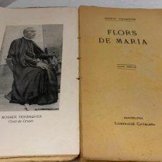 Libros antiguos: MOSSEN JACINTO VERDAGUER - FLORS DE MARIA. NUM XX, S.XIX 151 PAGS. ILUSTRACIO CATALANA. Lote 288464698