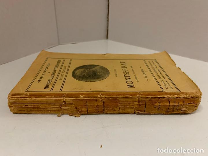 Libros antiguos: Mossen JACINTO VERDAGUER - MONTSERRAT. num III, S.XIX 207 pags. Ilustracio Catalana - Foto 5 - 288466643