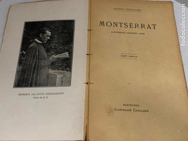 MOSSEN JACINTO VERDAGUER - MONTSERRAT. NUM III, S.XIX 207 PAGS. ILUSTRACIO CATALANA (Libros antiguos (hasta 1936), raros y curiosos - Literatura - Poesía)