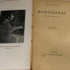 Libros antiguos: MOSSEN JACINTO VERDAGUER - MONTSERRAT. NUM III, S.XIX 207 PAGS. ILUSTRACIO CATALANA. Lote 288466643