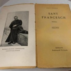 Libros antiguos: MOSSEN JACINTO VERDAGUER - SANT FRANCESCH. NUM XV, S.XIX 152 PAGS. ILUSTRACIO CATALANA. Lote 288467323