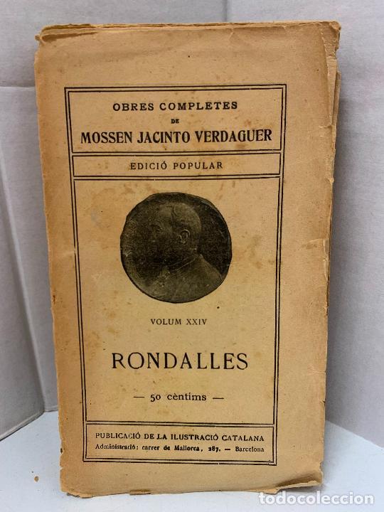 Libros antiguos: Mossen JACINTO VERDAGUER - RONDALLES. num XXIV, S.XIX, 162 pags, Ilustracio Catalana - Foto 2 - 288470048