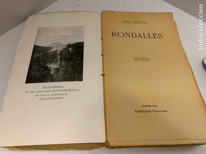 MOSSEN JACINTO VERDAGUER - RONDALLES. NUM XXIV, S.XIX, 162 PAGS, ILUSTRACIO CATALANA (Libros antiguos (hasta 1936), raros y curiosos - Literatura - Poesía)