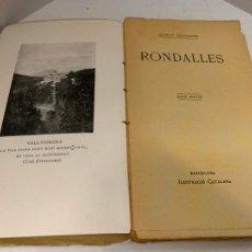 Libros antiguos: MOSSEN JACINTO VERDAGUER - RONDALLES. NUM XXIV, S.XIX, 162 PAGS, ILUSTRACIO CATALANA. Lote 288470048