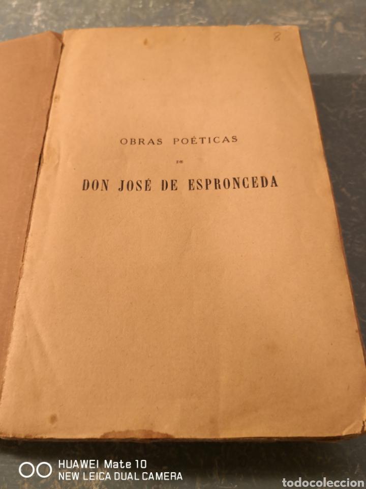 Libros antiguos: Obras poéticas de don José de Espronceda precedidas de la biografía del autor 1871 - Foto 2 - 288611288