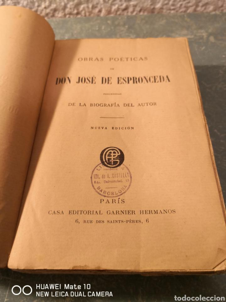 Libros antiguos: Obras poéticas de don José de Espronceda precedidas de la biografía del autor 1871 - Foto 3 - 288611288