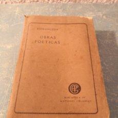 Libros antiguos: OBRAS POÉTICAS DE DON JOSÉ DE ESPRONCEDA PRECEDIDAS DE LA BIOGRAFÍA DEL AUTOR 1871. Lote 288611288