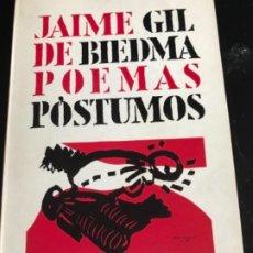 Livros antigos: JAIME GIL DE BIEDMA POEMAS PÓSTUMOS 1968 PRIMERA EDICIÓN. Lote 290802783