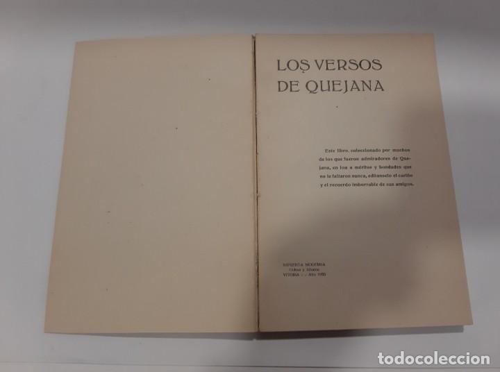 Libros antiguos: LOS VERSOS DE QUEJANA VITORIA. MCMXXIII. SÁENZ DE QUJANA. - Foto 4 - 50515560
