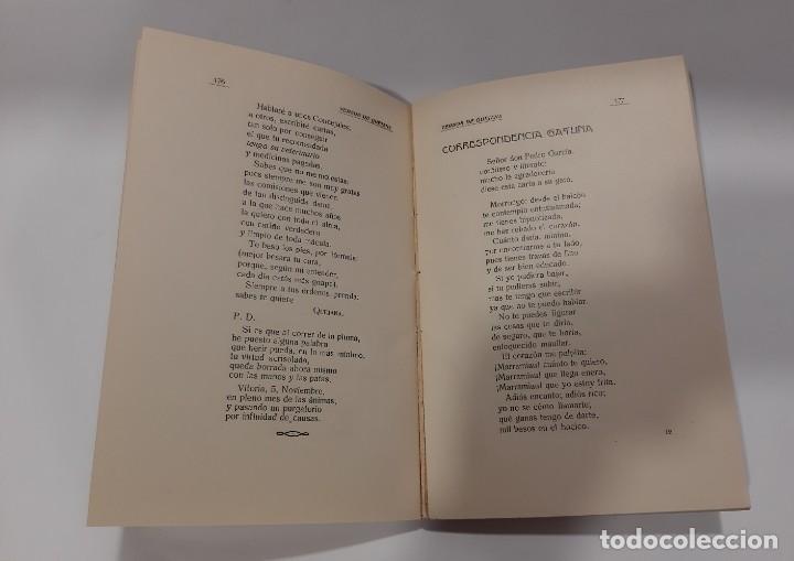 Libros antiguos: LOS VERSOS DE QUEJANA VITORIA. MCMXXIII. SÁENZ DE QUJANA. - Foto 8 - 50515560