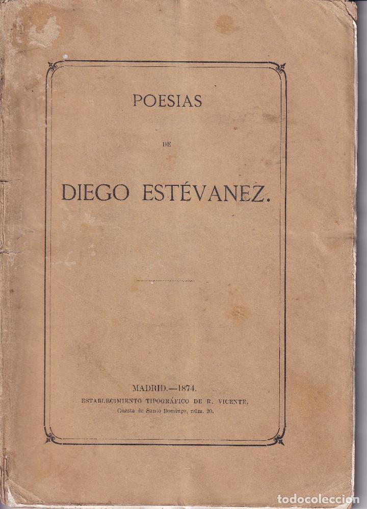 TENERIFE -POESIAS DE DIEGO ESTEVANEZ - 1874 (Libros antiguos (hasta 1936), raros y curiosos - Literatura - Poesía)