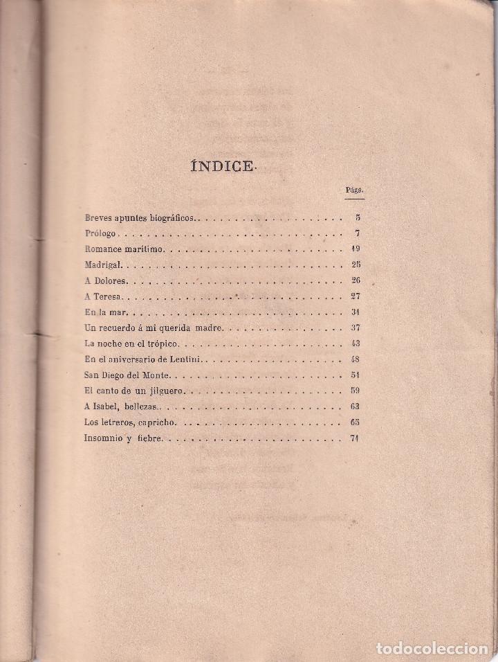 Libros antiguos: TENERIFE -POESIAS DE DIEGO ESTEVANEZ - 1874 - Foto 5 - 293543943