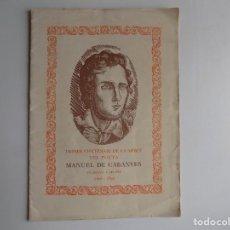 Libros antiguos: LIBRERIA GHOTICA. PRIMER CENTENARI LA MORT DEL POETA MANUEL DE CABANYES.1808-1833.VILANOVA I GELTRU. Lote 293829908