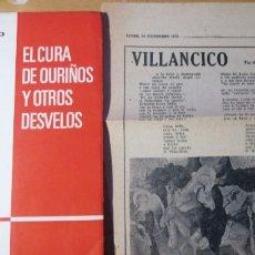 """Libros antiguos: VIÑAS CALVO. EL CURA DE OURIÑOS Y OTROS DESVELOS. DEDICADO. ARTES GRÁFICAS DE """"FARO DE VIGO"""", VIGO 1. Lote 297084948"""