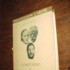 Libros antiguos: COMPENDIO DE POLITICA SOCIAL. LUDWIG HEYDE. COLECCION LABOR BIBLIOTECA DE INICIACION CULTURAL. *. Lote 75362766
