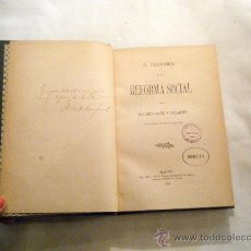 Libros antiguos: SANZ Y ESCARTÍN EL INDIVIDUO Y LA REFORMA SOCIAL MADRID, 1896. Lote 25851259