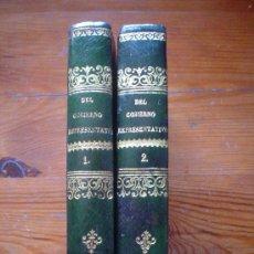 Libros antiguos: 1866 - EXÁMEN CRÍTICO DEL GOBIERNO REPRESENTATIVO EN LA SOCIEDAD MODERNA - TAPARELLI - OBRA COMPLETA. Lote 27532783