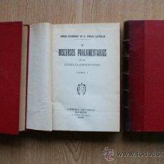 Libros antiguos: DISCURSOS PARLAMENTARIOS EN LA ASAMBLEA CONSTITUYENTE. CASTELAR (EMILIO). Lote 25082129