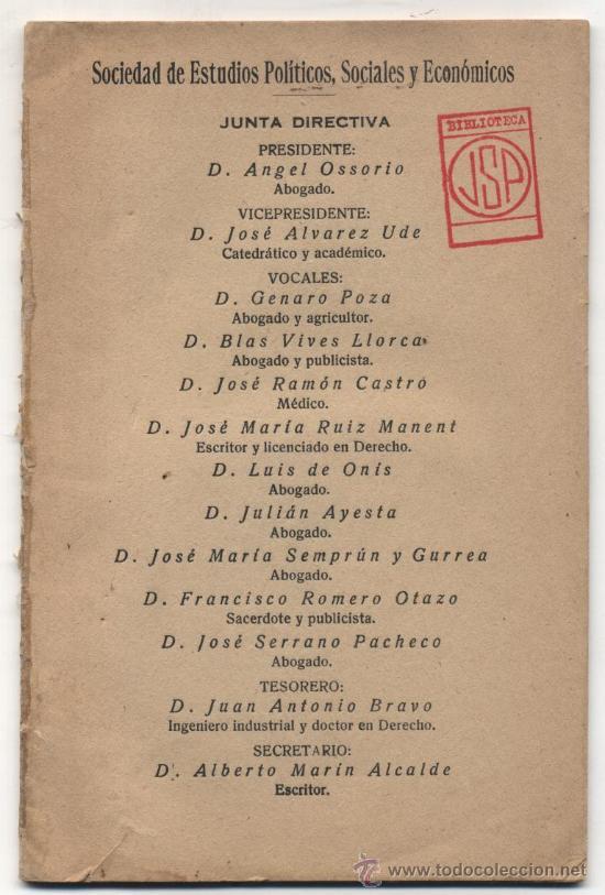 UNA POSICIÓN CONSERVADORA ANTE LA REPÚBLICA. POR D.ANGEL OSORIO. MADRID 1931.(18X12) 31 PP. (Libros Antiguos, Raros y Curiosos - Pensamiento - Política)