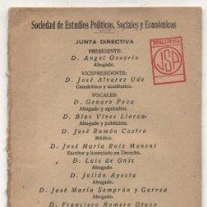 Libros antiguos: UNA POSICIÓN CONSERVADORA ANTE LA REPÚBLICA. POR D.ANGEL OSORIO. MADRID 1931.(18X12) 31 PP.. Lote 27118886