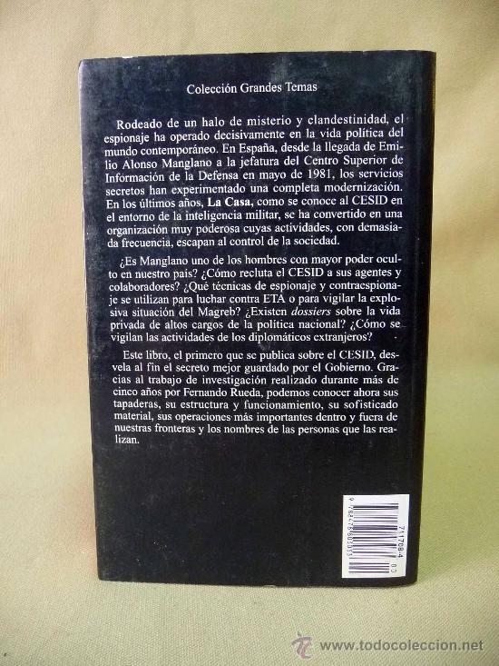 Libros antiguos: LIBRO, LA CASA, EL CESID, AGENTES Y OPERACIONES SECRETAS, FERNANDO RUEDA, 2º EDICION - Foto 3 - 27731187
