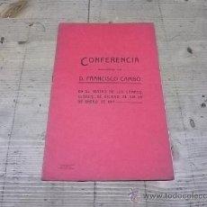 Libros antiguos: 1340.-CONFERENCIA DE FRANCESC CAMBO EN EL TEATRO DE LOS CAMPOS ELISEOS DE BILBAO EN 1917. Lote 29345270