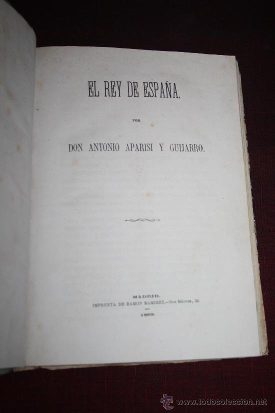 Libros antiguos: 1903- 3 LIBROS SOBRE EL REY D. ALFONSO DE BORBON EN 1 VOLUMEN DE 1869 Y 1872 - Foto 3 - 30687352