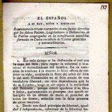 Libros antiguos: EL ESPAÑOL A SU REY, SEÑOR Y SOBERANO,JUAN REGUERA VALDELOMAR, MADRID,1814,GUERRA INDEPENDENCIA . Lote 31249168