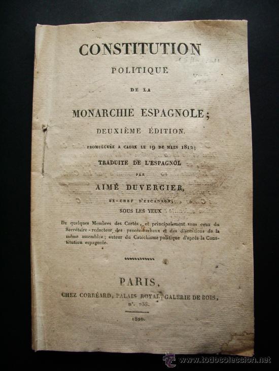 1820 Constituci 243 N Espa 241 Ola De 1812 La Pepa C 225 Di Comprar