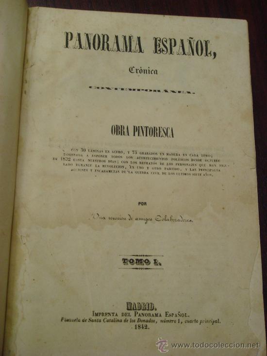 PANORAMA ESPAÑOL, 1842-45 , 2 VOL. (T:I-II Y T:III-IV) CRÓNICA CONTEMPORÁNEA. (Libros Antiguos, Raros y Curiosos - Pensamiento - Política)