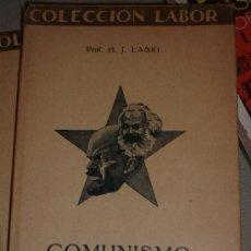 Libros antiguos: PROF. H.J LASKI: COMUNISMO, LABOR, BARCELONA, 1929. Lote 32827631