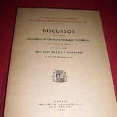 Libros antiguos: BULLÓN Y FERNÁNDEZ, ELOY - EL CONCEPTO DE LA SOBERANÍA EN LA ESCUELA JURÍDICA ESPAÑOLA DEL SIGLO XVI. Lote 33648382