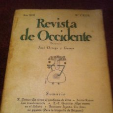 Libros antiguos: REVISTA DE OCCIDENTE. NOVIEMBRE 1.935. DIRECTOR ORTEGA Y GASSET.. Lote 34821216