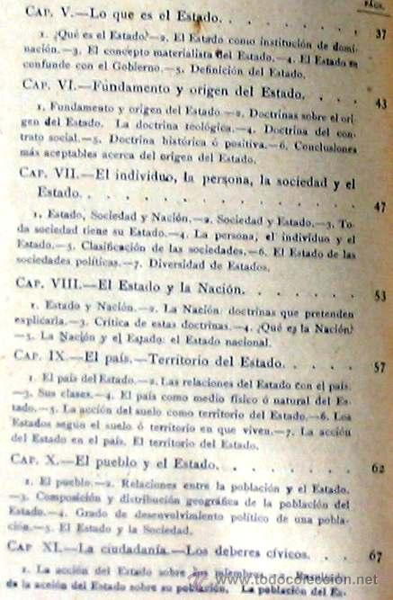 Libros antiguos: CIENCIA POLÍTICA - MANUALES SOLER Nº 8 - ADOLFO POSADA - VER ÍNDICE - Foto 4 - 35338897