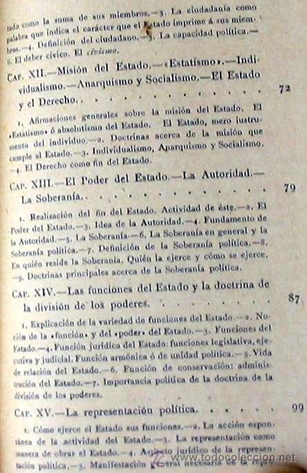 Libros antiguos: CIENCIA POLÍTICA - MANUALES SOLER Nº 8 - ADOLFO POSADA - VER ÍNDICE - Foto 5 - 35338897