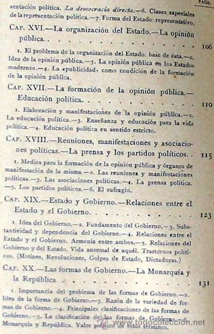 Libros antiguos: CIENCIA POLÍTICA - MANUALES SOLER Nº 8 - ADOLFO POSADA - VER ÍNDICE - Foto 6 - 35338897