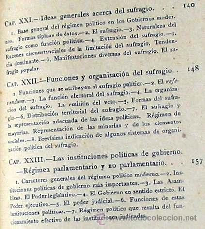 Libros antiguos: CIENCIA POLÍTICA - MANUALES SOLER Nº 8 - ADOLFO POSADA - VER ÍNDICE - Foto 7 - 35338897