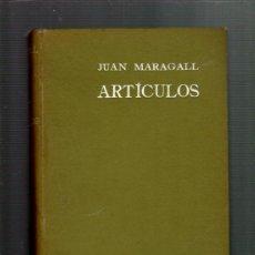 Libros antiguos: JUAN MARAGALL ARTICULOS (1893-1903) BARCELONA 1904. Lote 35792154