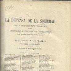 Libros antiguos: DEFENSA DE LA SOCIEDAD. JUAN BRAVO MURILLO. IMP. JUAN AGUADO. TOMO III. MADRID. 1876. Lote 38986656