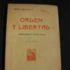 Libros antiguos: ORDEN Y LIBERTAD. PABLO MANTEGAZZA. CONVERSACIONES DE POLITICA POPULAR. F.GRANADA Y C.. Lote 39036717
