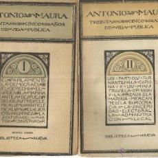 Libros antiguos: TREINTA AÑOS DE VIDA PÚBLICA. 2 TOMOS. ANTONIO MAURA. BIBLIOTECA NUEVA. MADRID. 1918. Lote 40591626